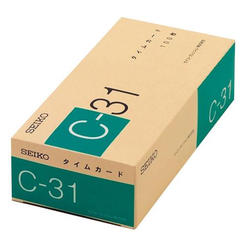 セイコープレシジョン タイムカード 末締め用 Cー31