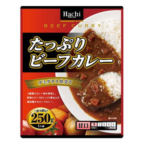 ハチ食品 たっぷりビーフカレー 甘口 250g