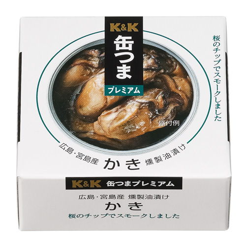 K&K 缶つまプレミアム 広島かき燻製油漬 60g