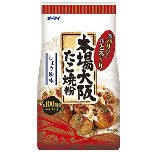 日本製粉 オーマイ 本場大阪たこ焼き粉 500g
