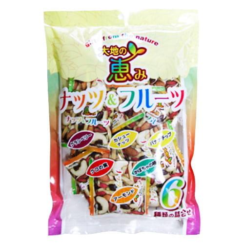 谷貝食品工業 大地の恵み ナッツ&フルーツ 個包装 10P入