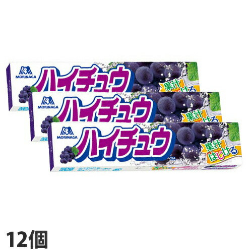森永製菓 ハイチュウ グレープ 12粒 12個