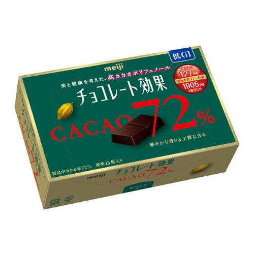 明治 チョコレート効果 カカオ72%BOX 75g