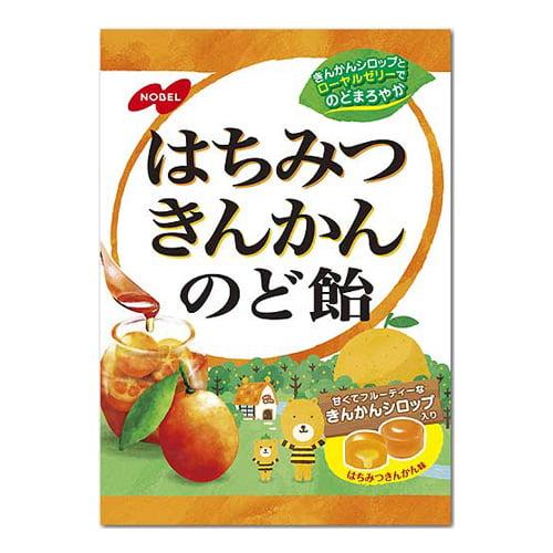 ノーベル製菓 はちみつきんかんのど飴 110g