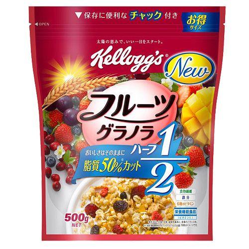 【賞味期限:19.12.31】ケロッグ フルーツグラノラハーフ 徳用袋 500g