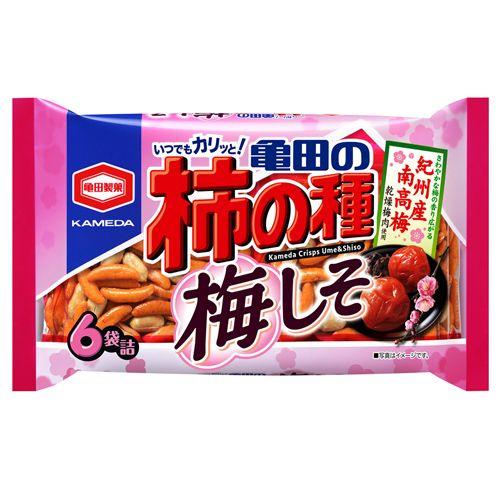 亀田製菓 亀田の柿の種 梅しそ 6袋入