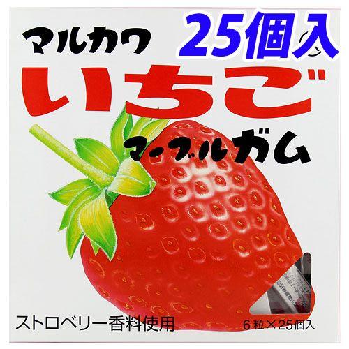 マルカワ ビッグサイズ いちごガム 6粒 25個