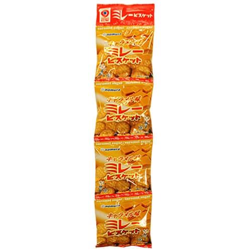 野村煎豆加工店 ミレービスケット 4連ミレービスケット キャラメル味 30g 4P