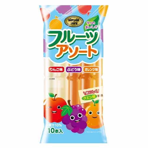 しんこう 棒ジュース フルーツアソート 55ml 10本