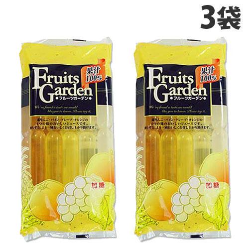 マルゴ食品 棒ジュース 果汁100% フルーツガーデン 60ml 10本 3袋