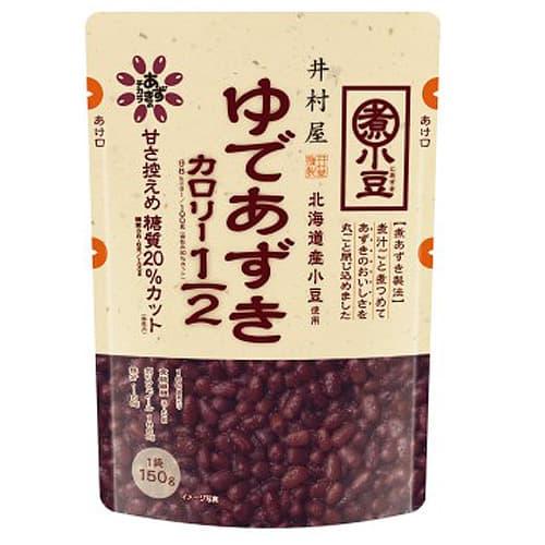 井村屋 カロリーハーフ ゆであずき 煮あずき製法 150g