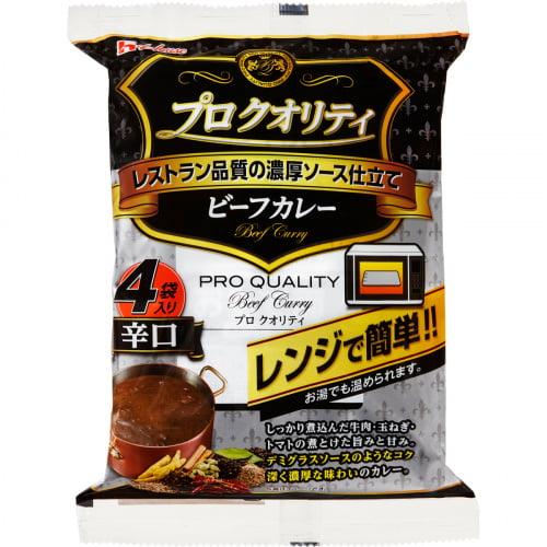 ハウス食品 プロクオリティ ビーフカレー 4袋 辛口 680g
