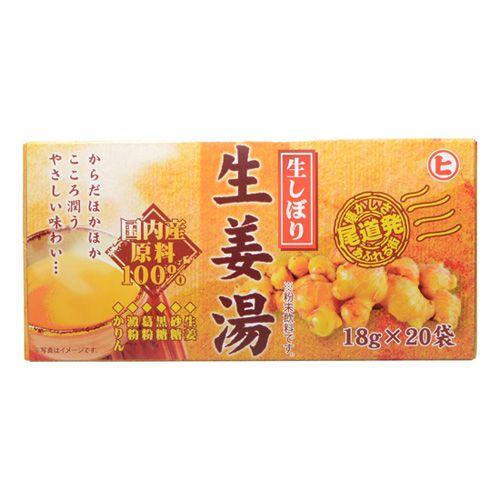 樋口製菓 生しぼり生姜湯 18g 20P