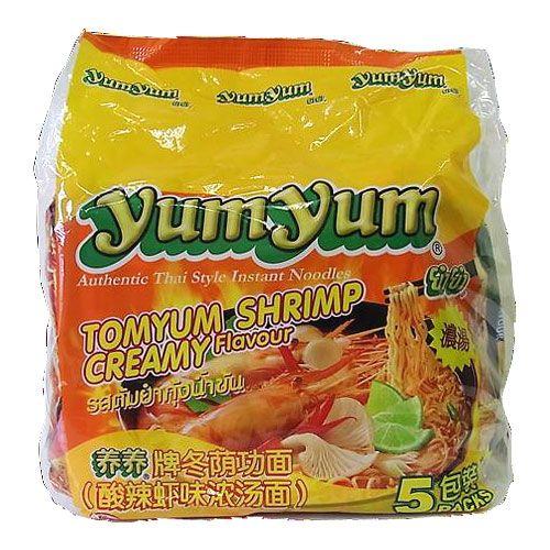 YumYum 袋麺 インスタントヌードル トムヤムシュリンプクリーム味 5P