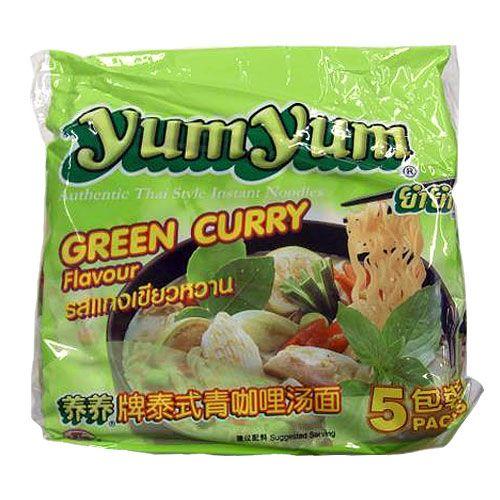 YumYum 袋麺 インスタントヌードル グリーンカレー味 5P