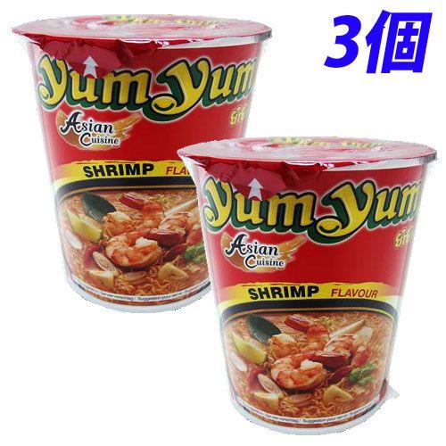 YumYum カップ麺 カップラーメン トムヤムシュリンプ味 70g 3個