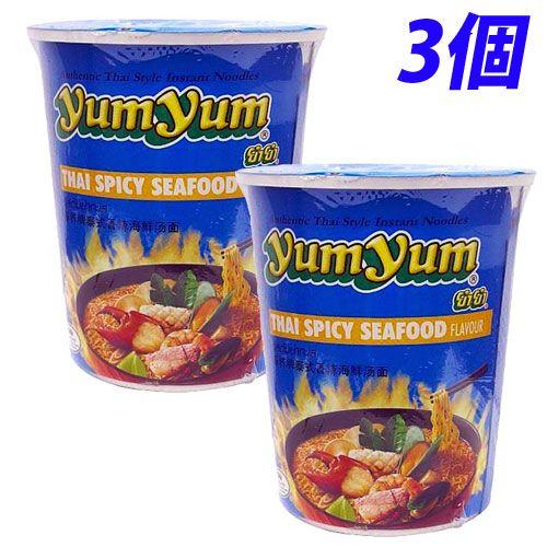YumYum カップ麺 カップラーメン スパイシーシーフード味 70g 3個