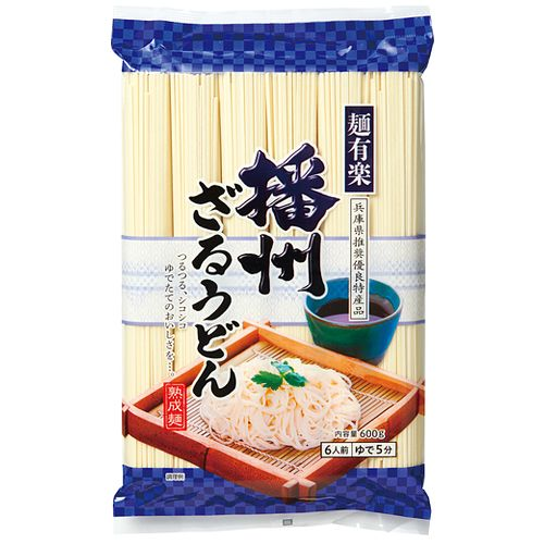 加藤産業 麺有楽 播州ざるうどん 600g