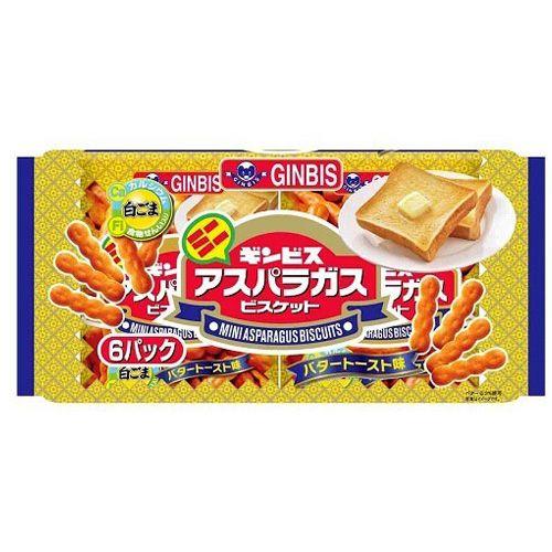 ギンビス ミニアスパラガス バタートースト味 27g 6P