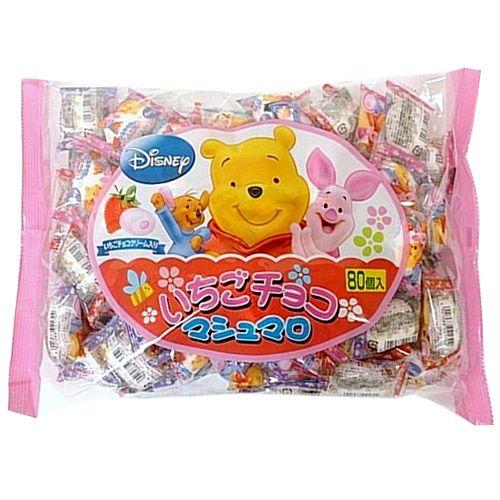エイワ くまのプーさん いちごチョコマシュマロ 80個入り