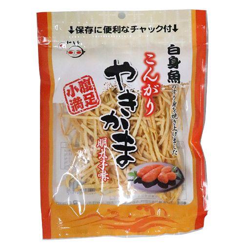 竹新製菓 こんがりやきかま 明太子味 50g