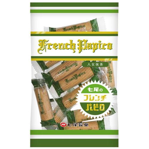七尾製菓 フレンチ抹茶パピロ 80g: