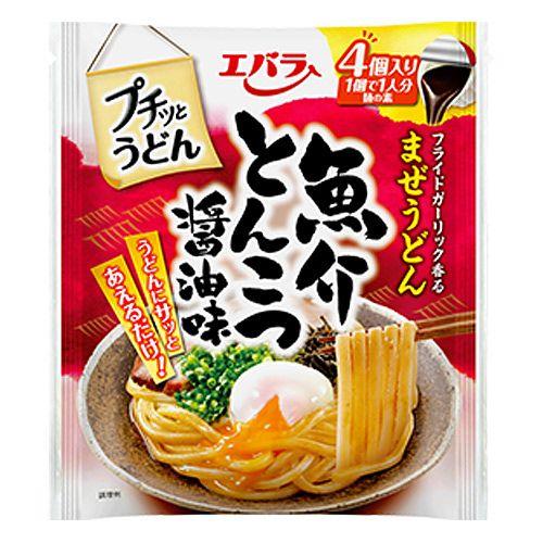 エバラ食品 プチッとうどん 魚介とんこつ醤油味 22g×4