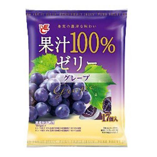 エースベーカリー 果汁100%ゼリー グレープ 17個