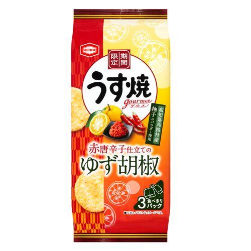 亀田製菓 うす焼グルメ 赤唐辛子仕立てのゆず胡椒 75g