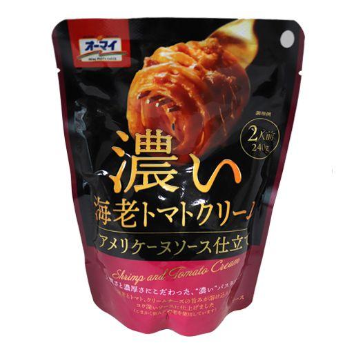 日本製粉 オーマイ 濃い海老トマトクリーム 240g