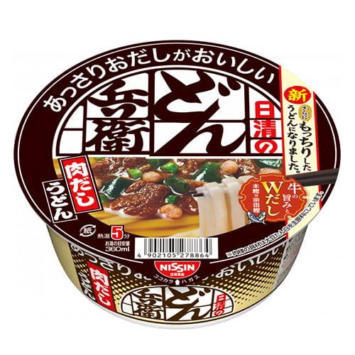 【賞味期限:21.04.22】日清 あっさりおだしがおいしいどん兵衛 4種の具材が入った肉だしうどん 72g