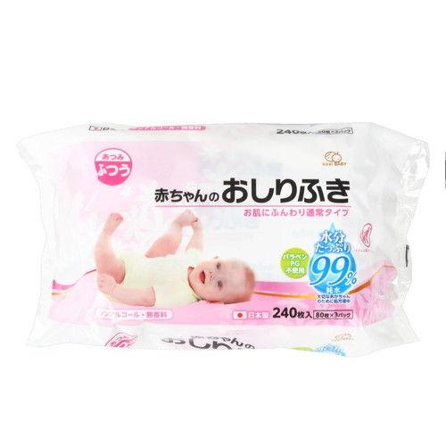 大一紙工 &C(アンドコンフォート) 赤ちゃんのおしりふき 80枚 3パック
