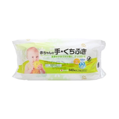 大一紙工 ウェットティッシュ アンドコンフォート 赤ちゃんの手口ふきとり 70枚 2パック