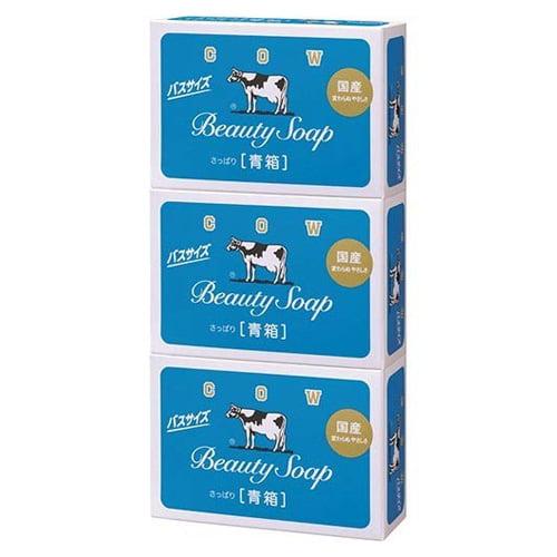 牛乳石鹸 固形石鹸 カウブランド 青箱 バスサイズ 各130g×3個入