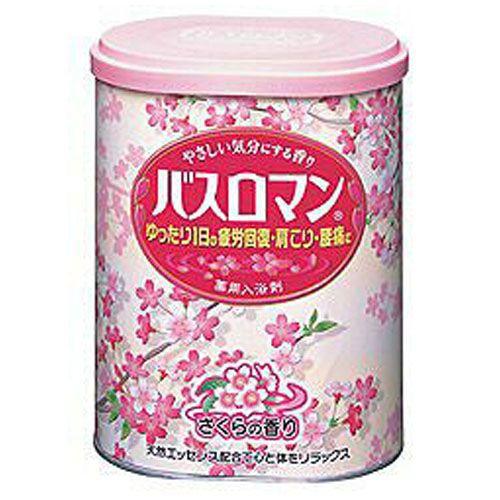 アース製薬 入浴剤 バスロマン にごり浴 さくらの香り 680g