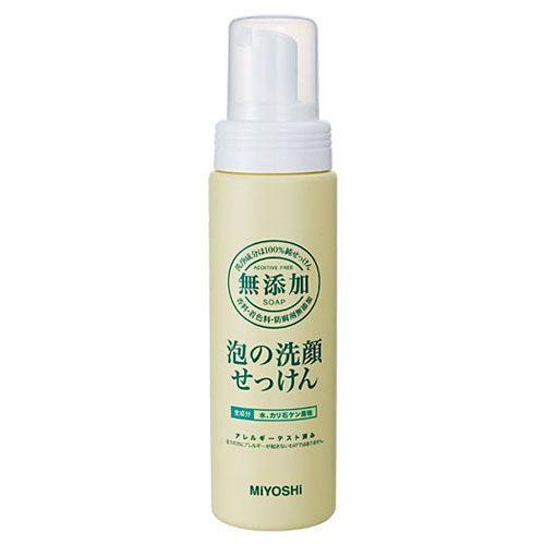 ミヨシ石鹸 無添加 泡の洗顔せっけん 200ml