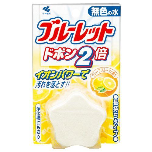 小林製薬 トイレ洗浄剤 ブルーレット ドボン2倍 無色 グレープフルーツ香り