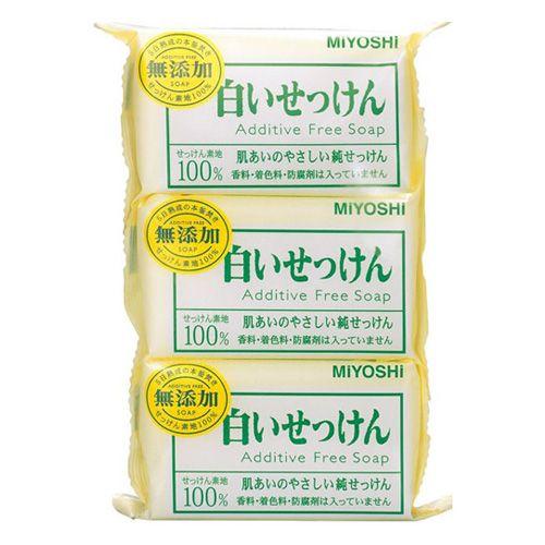 ミヨシ石鹸 固形石鹸 無添加 白いせっけん 3P