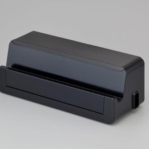 収納ボックス テーブルタップボックス ステーション L ブラック 1個 4837BK