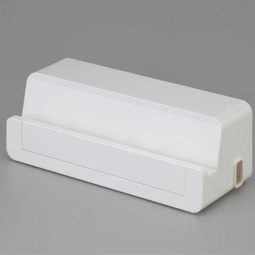 収納ボックス テーブルタップボックス ステーション L ホワイト 1個 4837WH