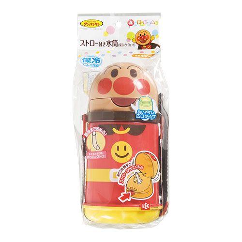 【売切れ御免】レック 子供用水筒 アンパンマン ストロー付き水筒 保冷・ダイカット アンパンマン