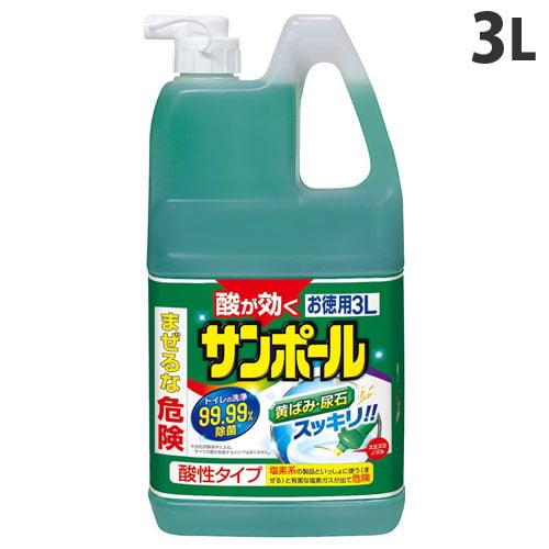 大日本除虫菊 トイレ用洗剤 サンポール 3L