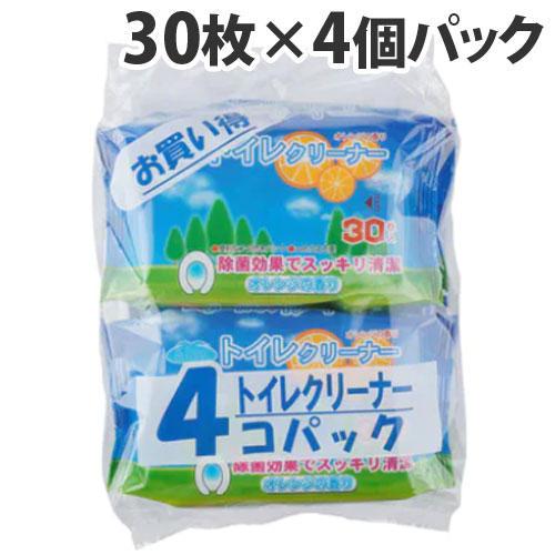 昭和紙工 オアシス トイレクリーナー 30枚×4個パック