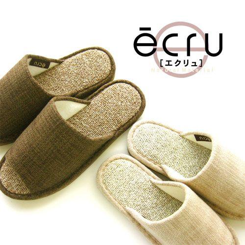 オクムラ スリッパ ecru(エクリュ) エコパイル ベージュ M(23.0~25.0cm)
