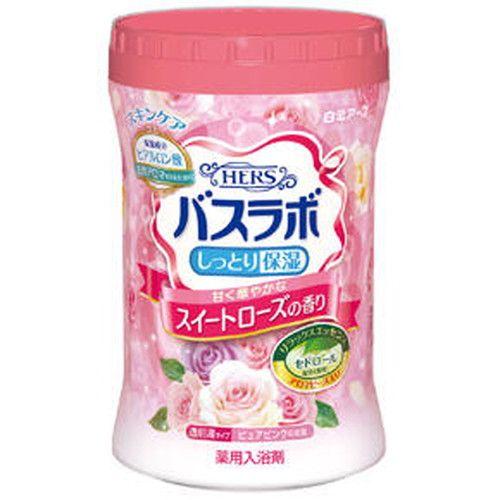 白元アース 入浴剤 HERSバスラボ ボトル スイートローズの香り 680g【医薬部外品】
