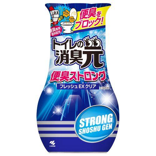 小林製薬 置き型消臭剤 消臭元 トイレの消臭元 便臭ストロング フレッシュEXクリア 400ml