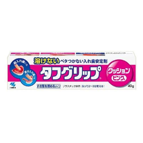 小林製薬 入れ歯安定剤 タフグリップ クッション ピンク 40g