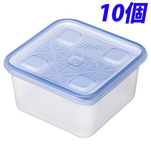 旭化成ホームプロダクツ 容器・ストッカー ジップロック コンテナー 正方形 1100ml 10個入