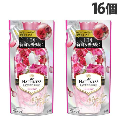 P&G 柔軟剤 レノアハピネス アンティークローズ&フローラルの香り 詰め替え 430ml 16個