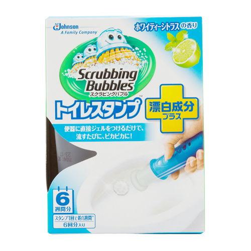 ジョンソン トイレ洗浄剤 スクラビングバブル トイレスタンプクリーナー ホワイティーシトラス 本体